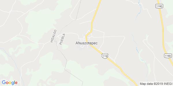Mapa de AHUAZOTEPEC