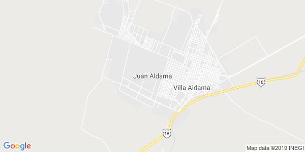 Mapa de ALDAMA