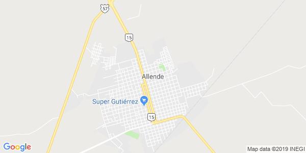 Mapa de ALLENDE