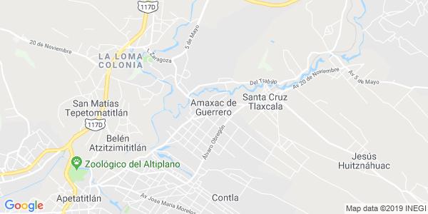 Mapa de AMAXAC DE GUERRERO