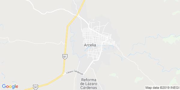 Mapa de ARCELIA