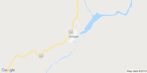 Mapa de ARIZPE