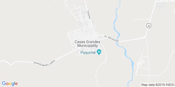 Mapa de CASAS GRANDES