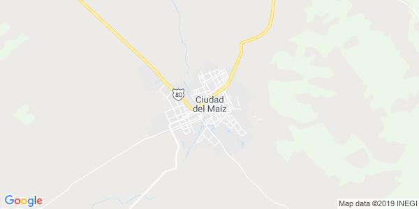 Mapa de CIUDAD DEL MAÍZ
