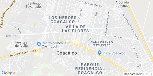 Mapa de COACALCO DE BERRIOZÁBAL