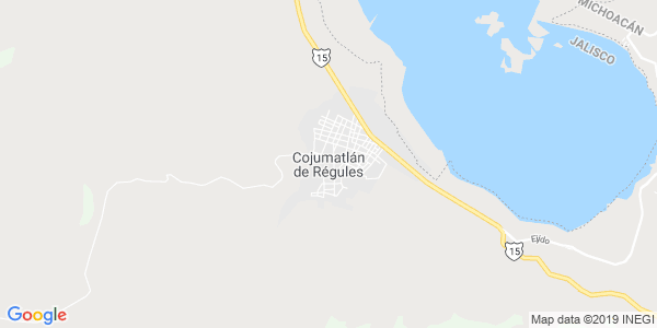 Mapa de COJUMATLÁN DE RÉGULES