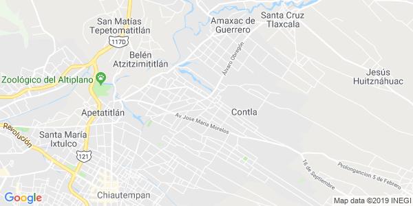 Mapa de CONTLA DE JUAN CUAMATZI