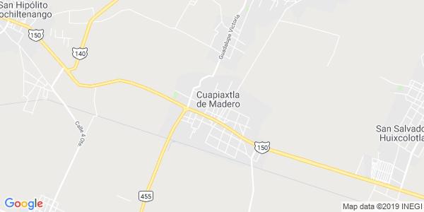 Mapa de CUAPIAXTLA DE MADERO