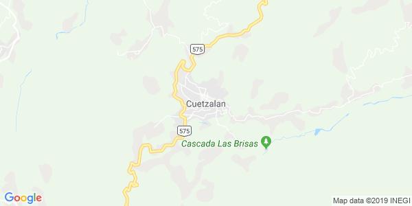 Mapa de CUETZALAN DEL PROGRESO