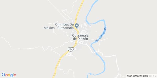 Mapa de CUTZAMALA DE PINZ�N