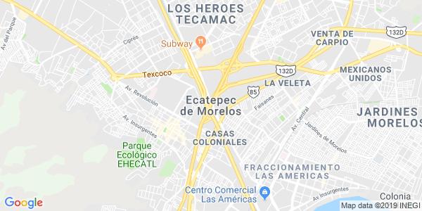 Mapa de ECATEPEC DE MORELOS