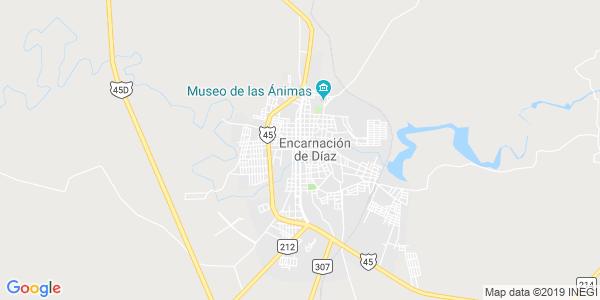 Mapa de ENCARNACI�N DE D�AZ