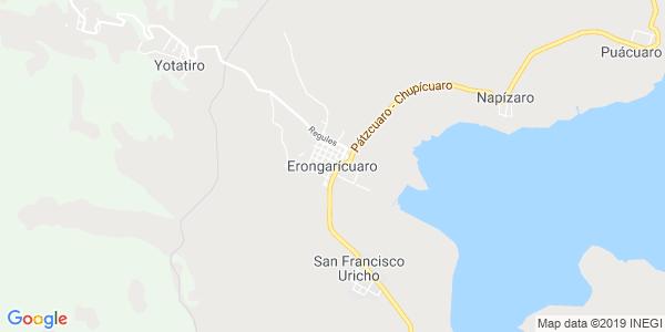 Mapa de ERONGARÍCUARO