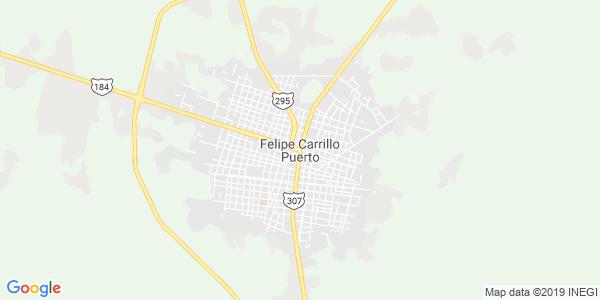 Mapa de FELIPE CARRILLO PUERTO