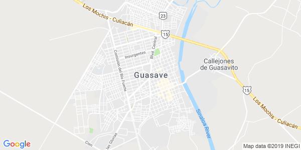Mapa de GUASAVE