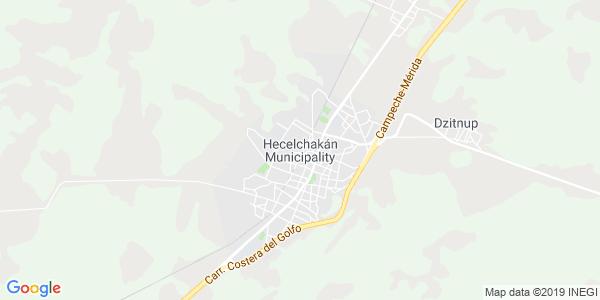 Mapa de HECELCHAKÁN