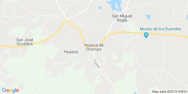 Mapa de HUASCA DE OCAMPO