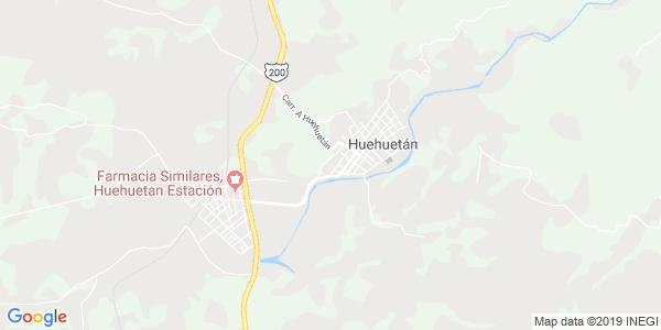 Mapa de HUEHUETÁN