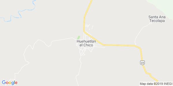 Mapa de HUEHUETL�N EL CHICO