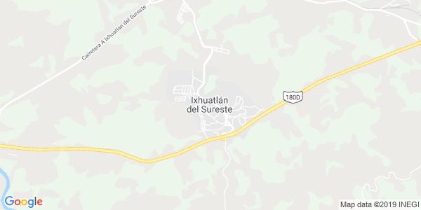 Mapa de IXHUATL�N DEL SURESTE