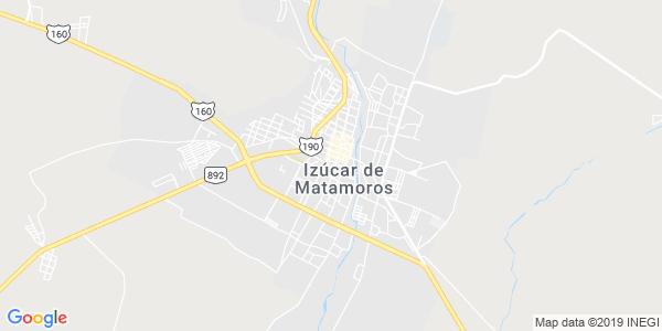 Mapa de IZ�CAR DE MATAMOROS