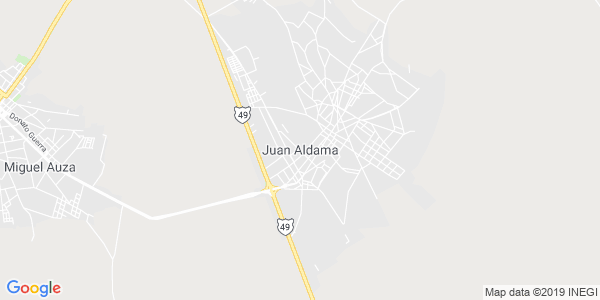 Mapa de JUAN ALDAMA