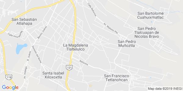 Mapa de LA MAGDALENA TLALTELULCO