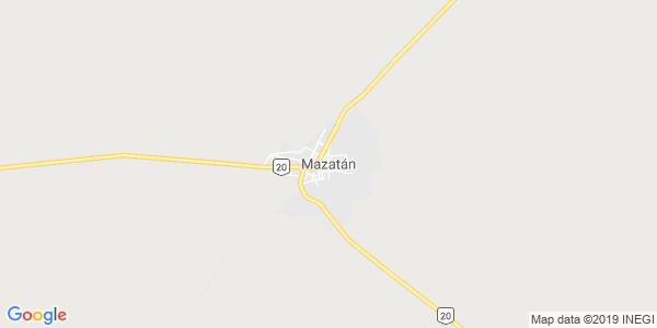 Mapa de MAZAT�N