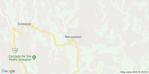 Mapa de MECAYAPAN