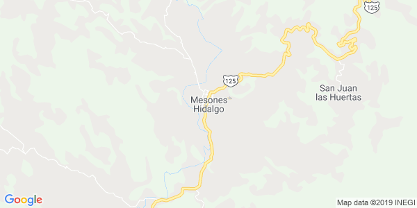 Mapa de MESONES HIDALGO