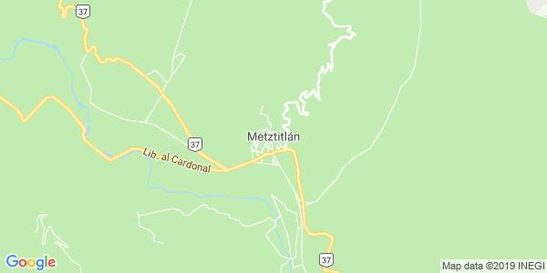 Mapa de METZTITLÁN