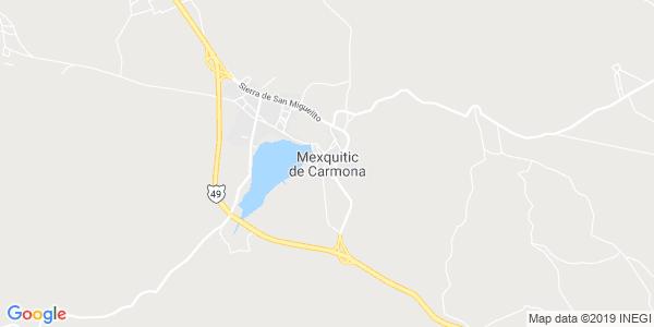 Mapa de MEXQUITIC DE CARMONA