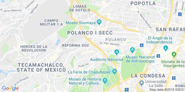 Mapa de MIGUEL HIDALGO