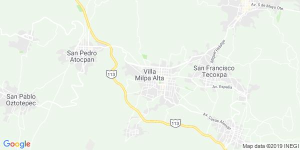 Mapa de MILPA ALTA