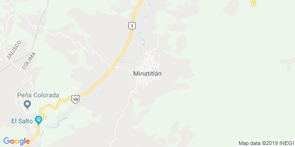 Mapa de MINATITL�N