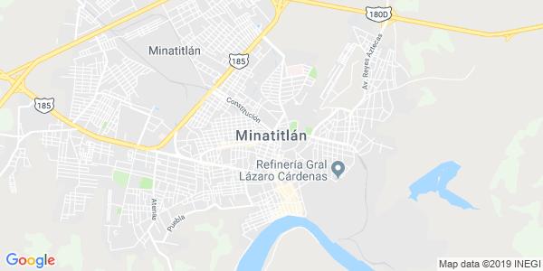Mapa de MINATITLÁN