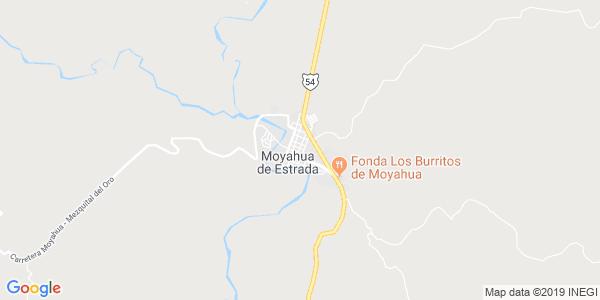 Mapa de MOYAHUA DE ESTRADA