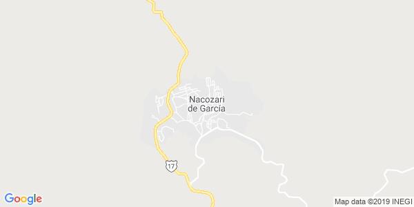 Mapa de NACOZARI DE GARC�A