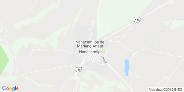 Mapa de NANACAMILPA DE MARIANO ARISTA