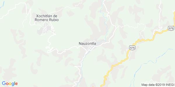 Mapa de NAUZONTLA