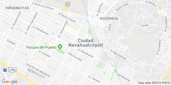 Mapa de NEZAHUALCÓYOTL
