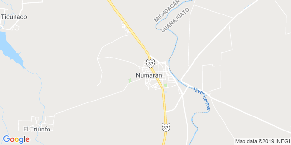 Mapa de NUMARÁN