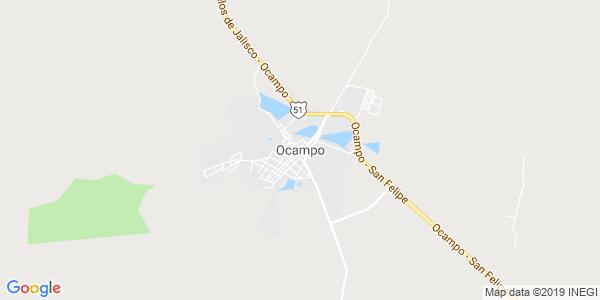 Mapa de OCAMPO