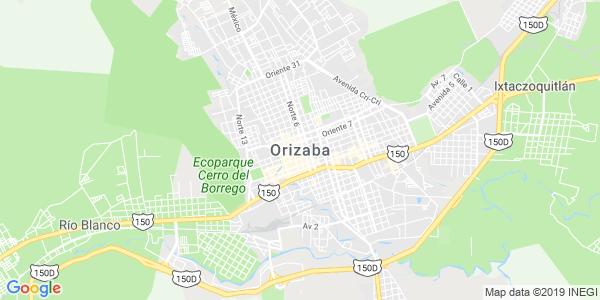 Mapa de ORIZABA