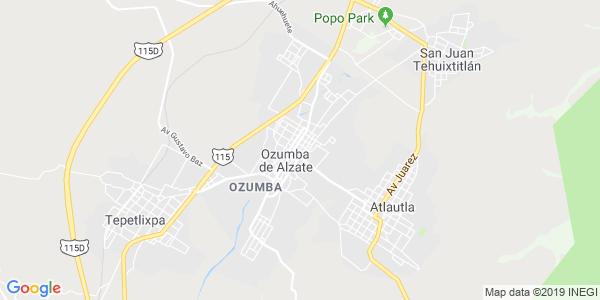 Mapa de OZUMBA