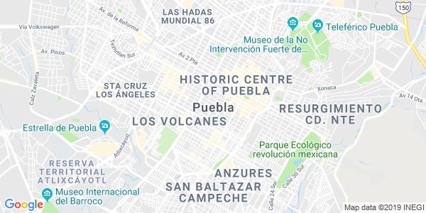 Mapa de PUEBLA