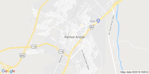 Mapa de RAMOS ARIZPE