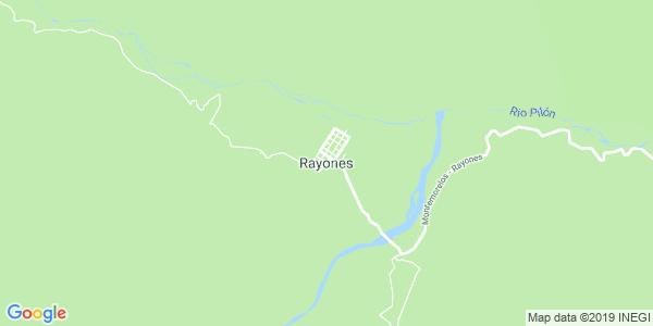 Mapa de RAYONES