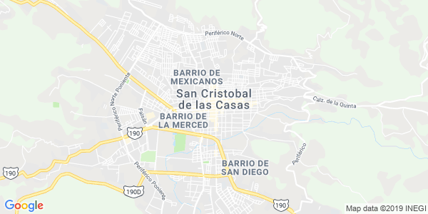 Mapa de SAN CRISTÓBAL DE LAS CASAS