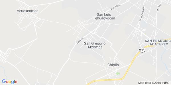 Mapa de SAN GREGORIO ATZOMPA